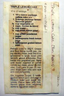 Triple Lemon Cake - Bon App�tit recipe