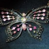 Pink Butterfly Necklace 2