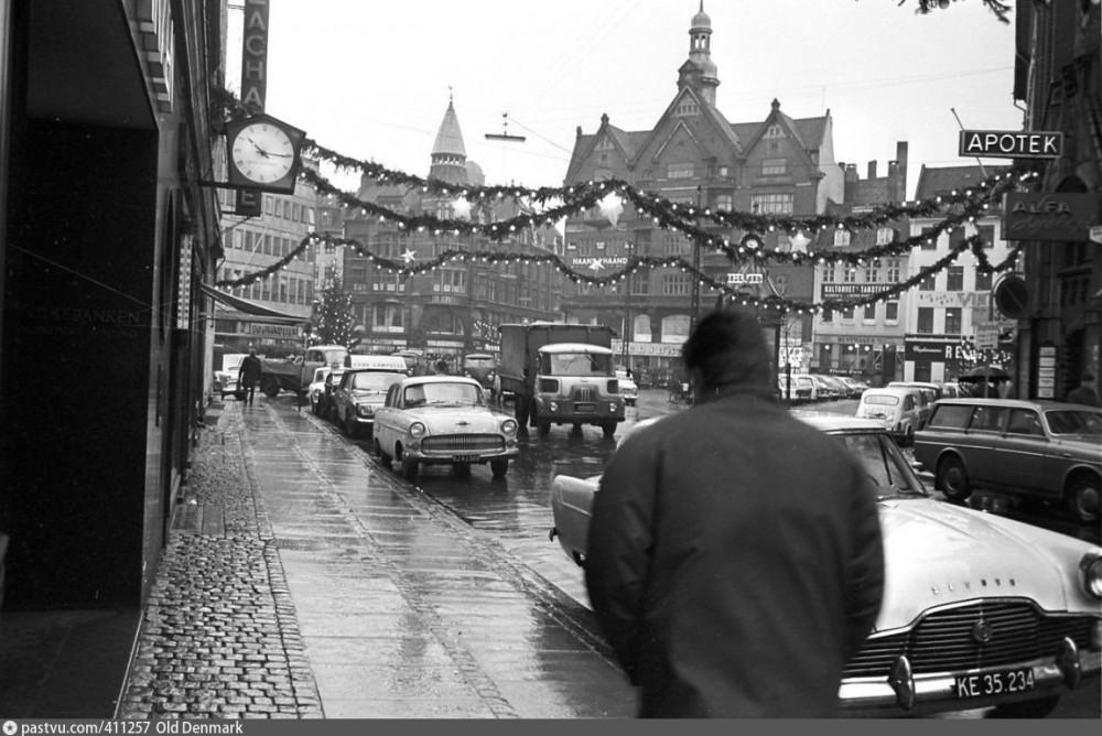 Копенгаген до и после пешеходой революции