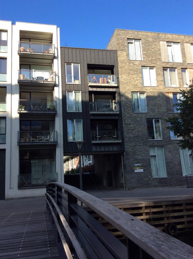 Новые дома Копенгагена в районе Cлусехольмен -