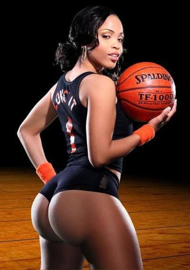 Sexy Ebony Girl Basketball