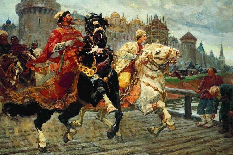 Художник Михаил Авилов «Иван Грозный на прогулке»