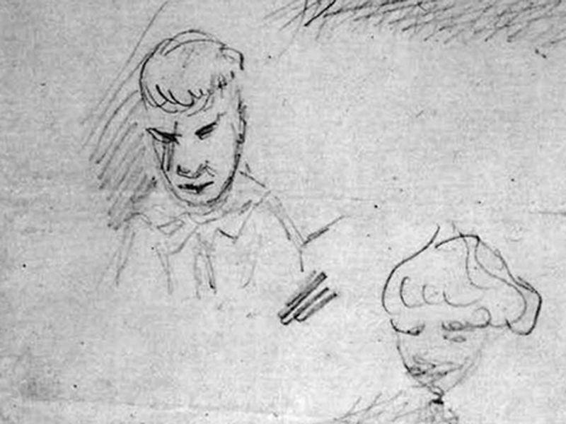 Алеша Карамазов. Рисунок из записных книжек Ф. М. Достоевского