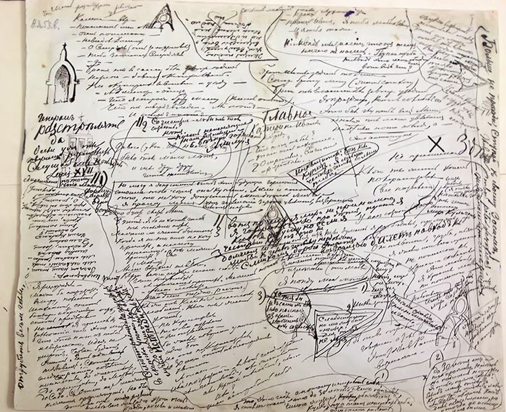 Лист из рукописи «Братьев Карамазовых»