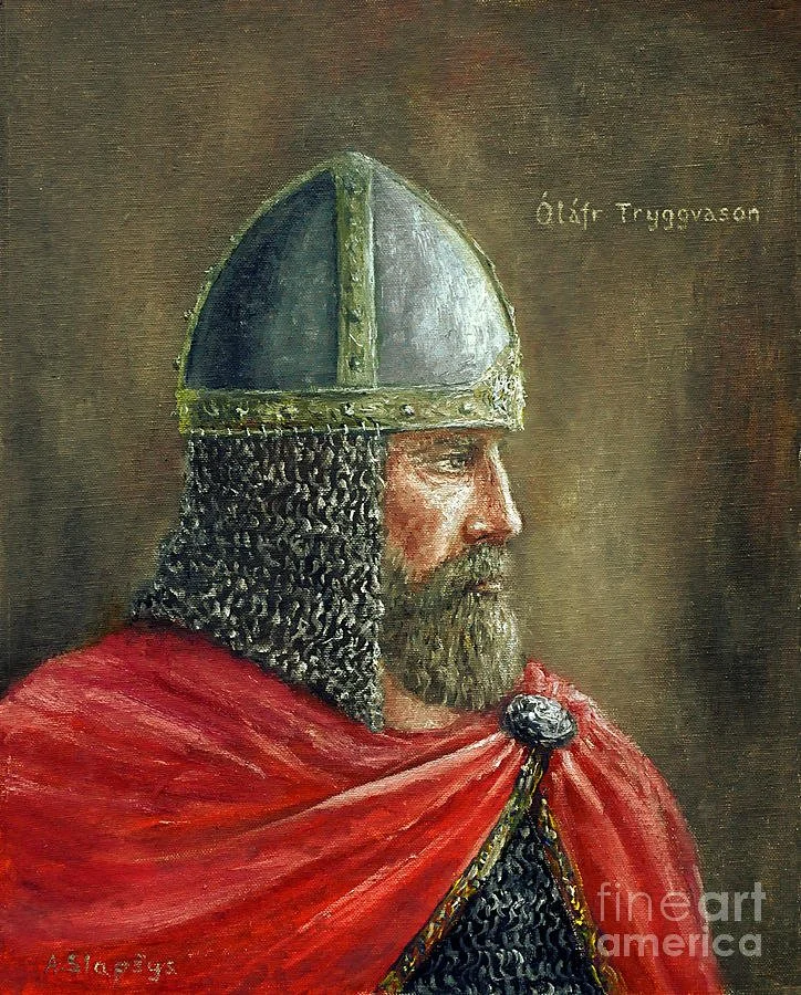 Современный портрет Олафа Трюгвассона