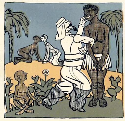 Эту советскую карикатуру на французский колониализм с удовольствием печатали вашингтонские газеты