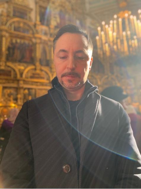 Евгений Жуков в православном храме