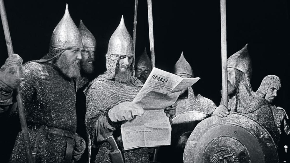 "Во время съемок фильма ""Александр Невский"". 1938 г."