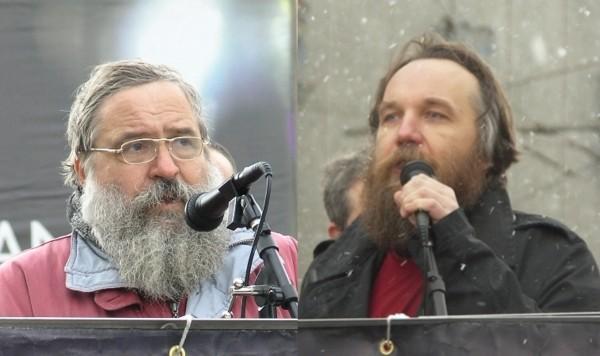 Владимiр Карпец и Александр Дугин. «Имперский Марш». Москва. 8 апреля 2007 г.