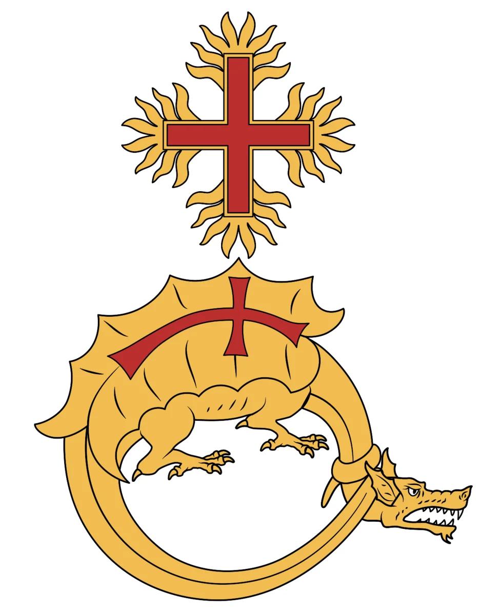 Эмблема Ордена побежденного Дракона во имя св. вмч. Георгия Победоносца