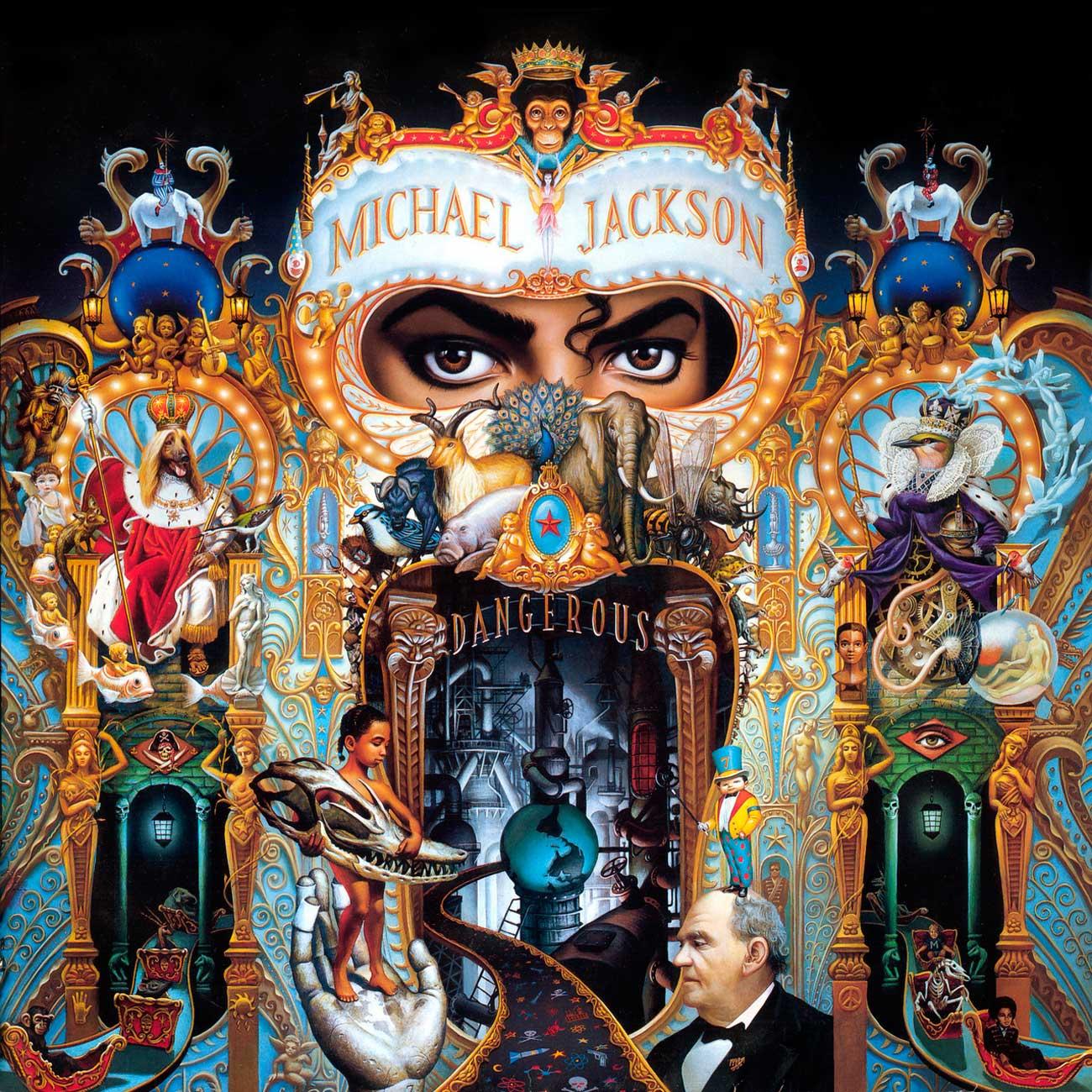 Обложка альбома Dangerous (Epic Records, 1991) Майкла Джексона