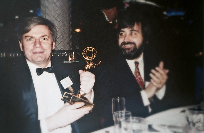 Jack Hanick with Emmy in hand, from an interview with foma.ru, В России чувствуешь себя свободнее (In Russia You Feel Freer), August 14, 2013