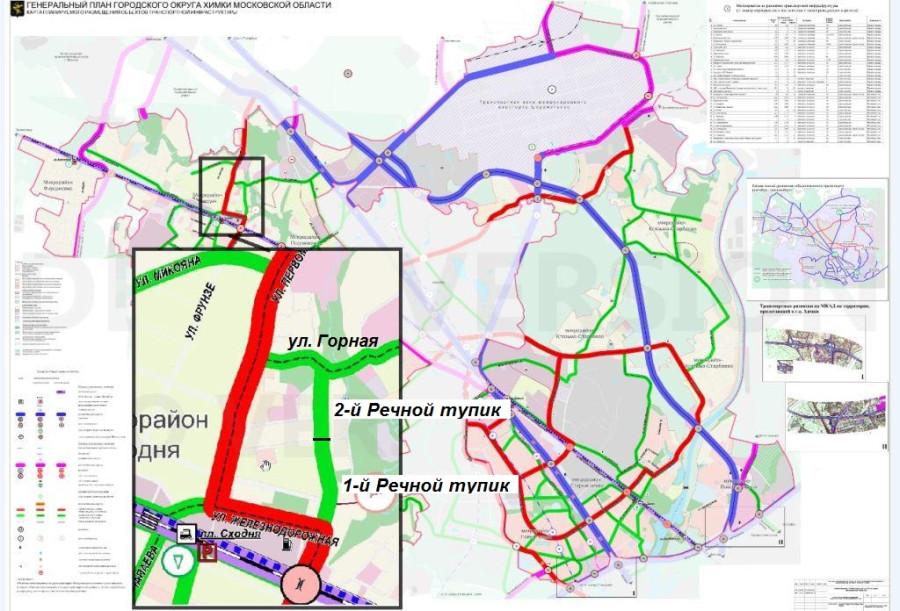 Карта планируемого размещения объектов транспортной инфраструктуры