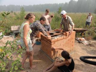 Обустройство лагеря - Строительство печи - общий план