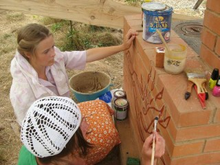 Обустройство лагеря - Строительство печи - финальная роспись