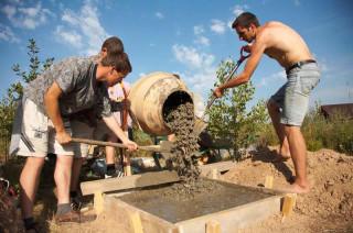 Обустройство лагеря - Строительство печи - фундамент