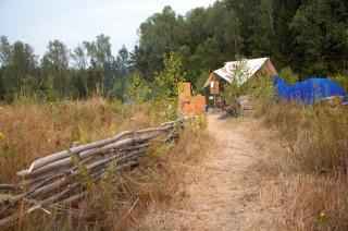 Общий вид тропинки к лагерю