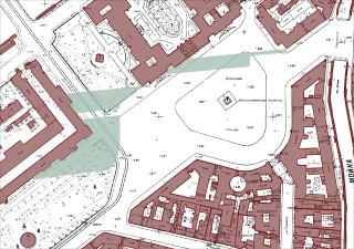 Зоны видимости ЗДАНИЯ ОДР ОЦ, высотой 396 метров в районе Дворцовой площади.