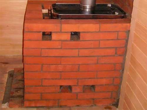 Как правильно обложить печь в бане кирпичом
