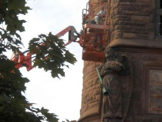 Zoomed church repointing on the east side of Milwaukee, Wisconsin, by ECP (a.k.a. Shamanic-Shift) on Flickr.com