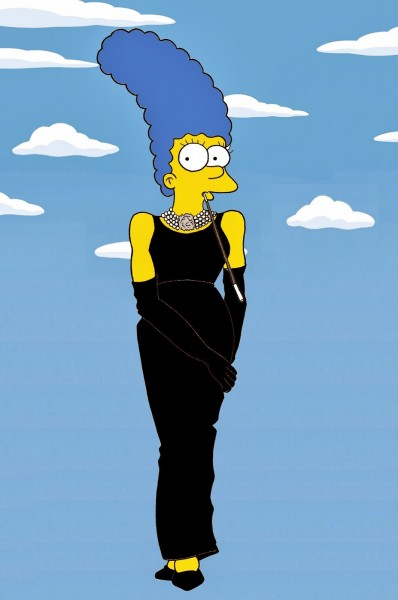 Marge Simpson Givenchy Audrey Hepburn Art Cartoon Illustration Satire Sketch Fashion Luxury Style Iconic Dresses all the time The simspsons  Humor Chic by aleXsandro Palombo (2)