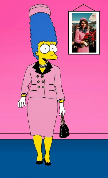 Marge Simpson Jackie Kennedy Art Cartoon Illustration Satire Sketch Fashion Luxury Style Iconic Dresses all the time The simspsons  Humor Chic by aleXsandro Palombo