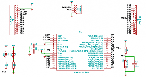 STM8-board