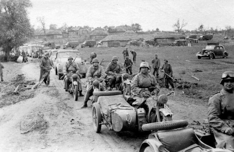 Немецкие войска заблудившись входят в Украину