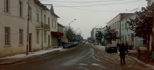 Ախալքալաքի կենտրոնական փողոցներից մեկը:
