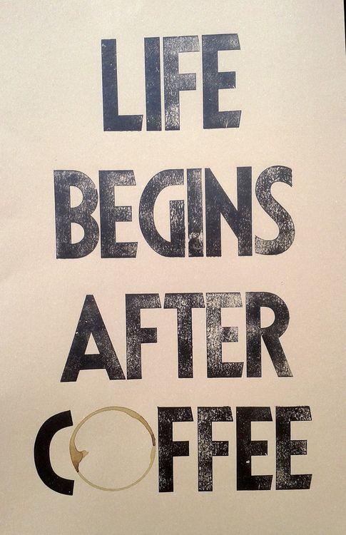 Жизнь начинается после кофе