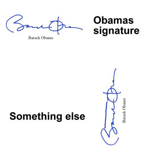 роспись Обамы