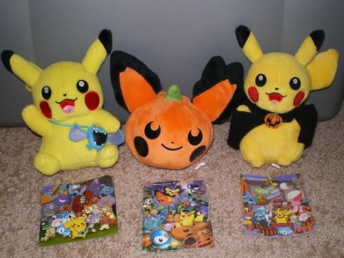 Pikachu halloween plushes