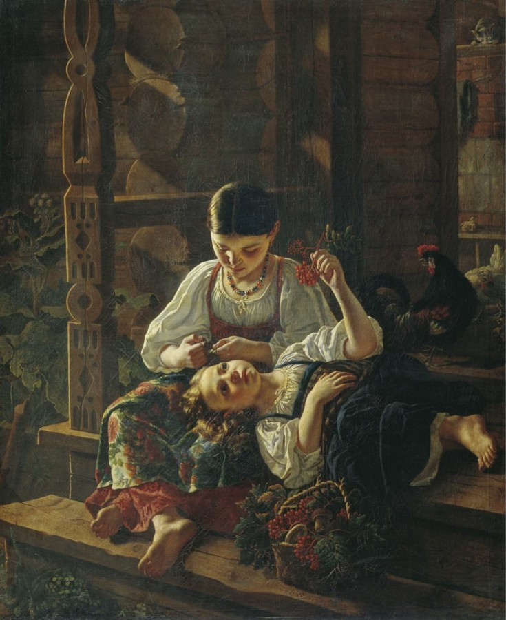 001_Фелицын Р На крыльце избы. 1855