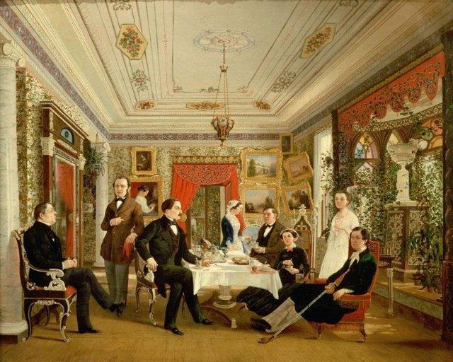 006_Алексей Яковлевич Волосков. 1822—1882   За чайным столом 1851