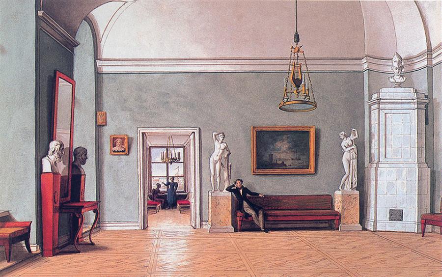 007_Ф.Толстой. В комнатах. 1830-е гг.
