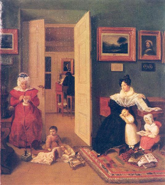 008_Ф. Толстой. В комнатах. 1830
