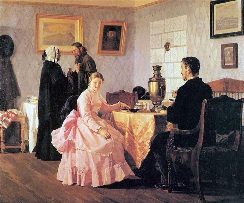 011_Неврев Николай Васильевич. Смотрины. 1888