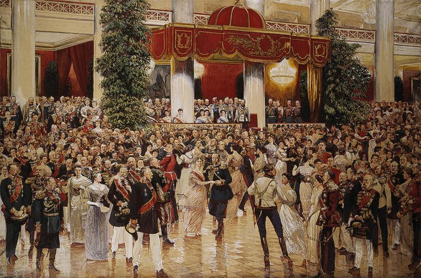 013_Бал в петербуржском дворянском собрании. 1913 г.