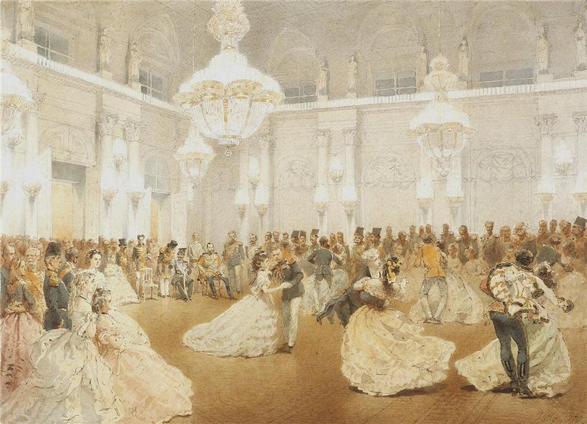 014_Бал в Концертном зале Зимнего дворца во время официального визита Nasir al-Din S.