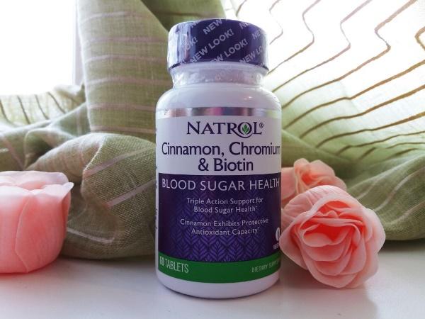 Natrol, Корица, хром и биотин, 60 таблеток