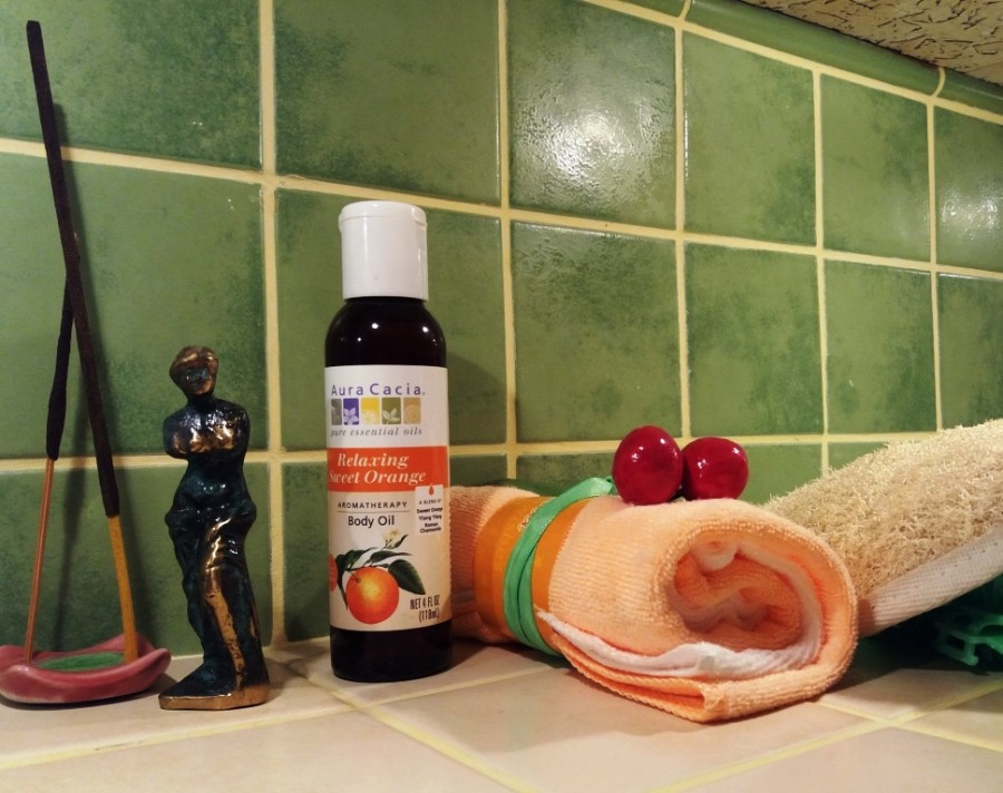Aura Cacia, Ароматерапия масло для тела, расслабляющий сладкий апельсин
