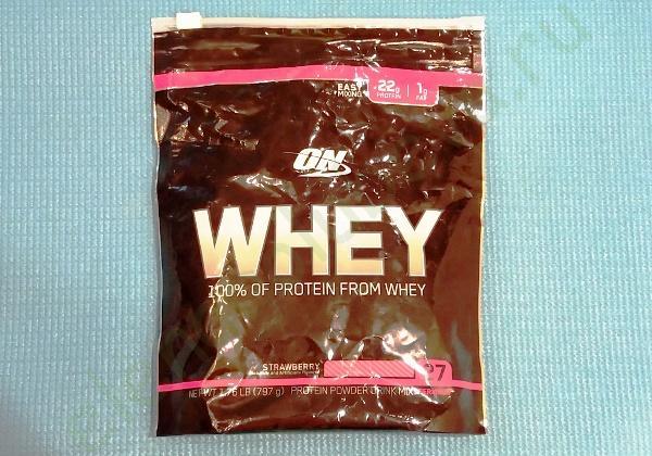 Optimum Nutrition, Сыворотка, 100% протеин из сыворотки, клубника, 1,76 фунта (797 г)