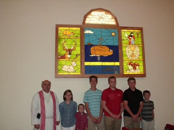 Dedication of Stained Glass Project