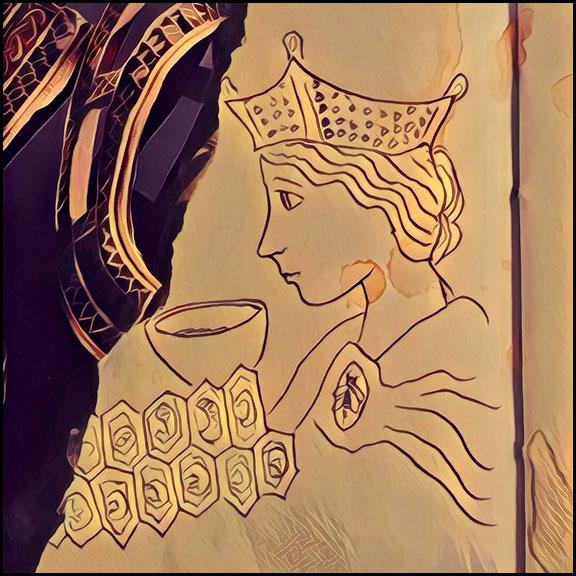 11-30-16-queen-of-cups-bee-motif-prisma