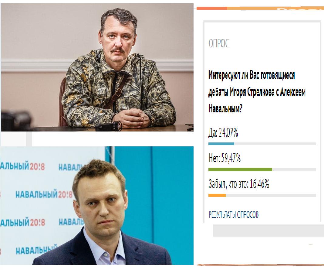 дебаты Стрелкова с Навальным