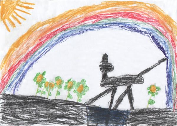 Эльза под радугой