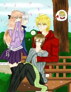 Toko, Tskumo, Shusei y Hotsuma