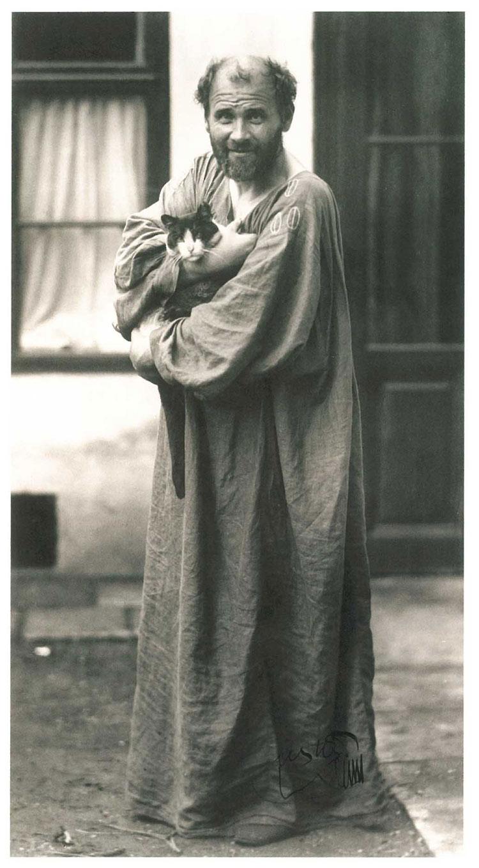 Климт Фотография Морица Нара Moritz Nähr ca 1912