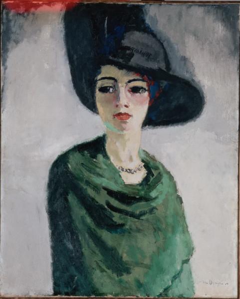 Kes-van-Dongen-Woman-in-black-hat Эрмитаж 1908