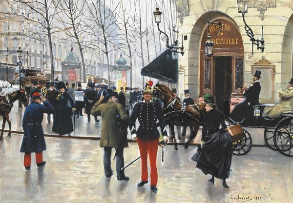 Беро Jean_Beraud Бульвар Капуцинов Театр Водевиль 1889